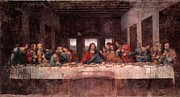 The Last Time Paintings - The Last Supper by Leonardo davinci
