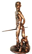 Indian Warrior Sculpture Prints - The Last Survivor Print by Wayne Niemi