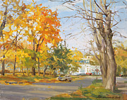 Fall Art - The last warm day by Victoria Kharchenko