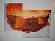 Hamburger Paintings - The latter day schedule of Extreme obesity by James Jarvis