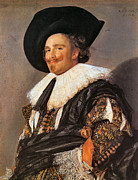 Laughing Framed Prints - The Laughing Cavalier Framed Print by Frans Hals