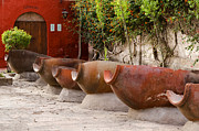 Amphorae Prints - The laundry in Santa Catalina Monastery Arequipa Peru Print by Ralf Broskvar