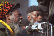 Revolutionary Digital Art Originals - The Leaders of a Local Antyracist Movement While Performing Their Speach During Toronto Riots 1992 by T Monticello