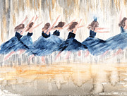 Ballet Dancers Paintings - The Leap by Peggy Bosse