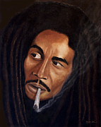 Rastafarian Paintings - The Legend Cover by Gregory John