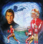 49ers Painting Prints - The Legend Print by Dominic Giglio