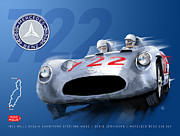 Stirling Moss Framed Prints - The Legend Of 722 Framed Print by Ron Riffle