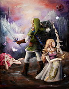 Game Painting Prints - The Legend of Zelda Print by Brynn Elizabeth Hughes