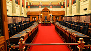 Lawrence Christopher Metal Prints - The Legislature Victoria BC Metal Print by Lawrence Christopher