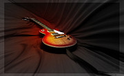 Photo Manipulation Digital Art Framed Prints - The Les Paul Framed Print by Steven  Digman