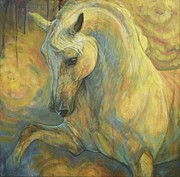 White Horse Paintings - the Lesson by Silvana Gabudean