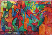 Jewish Art Drawings - The Letter Alef by David Wolk