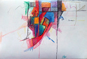 Jewish Art Drawings - The Letter Ayin by David Wolk