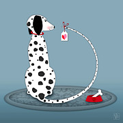 Dalmatian Dog Prints - The Letter D Print by Valerie  Drake Lesiak