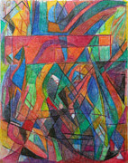 Jewish Art Drawings - The Letter Dalet 2 by David Baruch Wolk