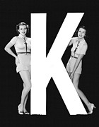 "Matching Outfits Framed Prints - The Letter ""K""  And Two Women Framed Print by Underwood Archives"