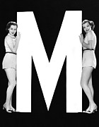 "Matching Outfits Framed Prints - The Letter ""M""  And Two Women Framed Print by Underwood Archives"