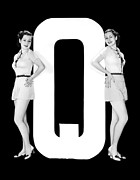 "Matching Outfits Framed Prints - The Letter ""Q""  And Two Women Framed Print by Underwood Archives"