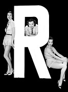 "Matching Outfits Framed Prints - The Letter ""R""  And Three Women Framed Print by Underwood Archives"