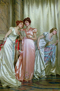 Satin Dress Painting Framed Prints - The Letter Framed Print by Vittorio Reggianini