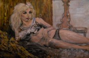Lady Gaga Portraits Paintings - The Lie For Which We Kill by Gerald Hubert