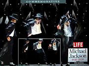 Michael Jackson Mixed Media Posters - The Life Of Michael Jackson Poster by Isis Kenney