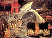Fathers Paintings - The life of the holy Fathers by Paolo Uccello