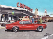 Chevelle Paintings - The Life Story Of A 1970 Chevy Chevelle Part 2 by Ryan Sardachuk