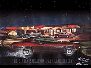 Chevelle Paintings - The Life Story Of A 1970 Chevy Chevelle Part 3 by Ryan Sardachuk
