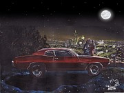 Chevelle Paintings - The Life Story Of A 1970 Chevy Chevelle Part 4 by Ryan Sardachuk
