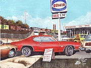 Chevelle Paintings - The Life Story Of a 1970 Chevy Chevelle Part 5 by Ryan Sardachuk