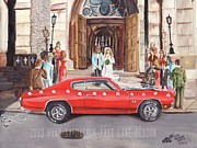 Chevelle Paintings - The Life Story Of A 1970 Chevy Chevelle Part 6 by Ryan Sardachuk