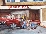 Chevelle Paintings - The Life Story Of A 1970 Chevy Chevelle Part 7 by Ryan Sardachuk