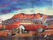 Chevelle Paintings - The Life Story Of A 1970 Chevy Chevelle Part 8 by Ryan Sardachuk