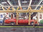 Chevelle Paintings - The Life Story Of A 1970 Chevy Chevelle Part One by Ryan Sardachuk