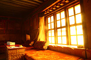 Tibet Digital Art Prints - The Light and The Believers Window Print by Afrison Ma