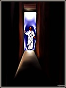 Christ Artwork Digital Art Prints - The Light at the end of the Tunnel Print by Carmen Cordova