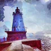 Lighthouse Posters - The Light House Poster by Jeff Klingler