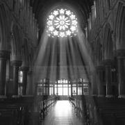 Church Digital Art Metal Prints - The Light - Ireland Metal Print by Mike McGlothlen