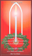 Season For Blessings Card Posters - The Light Poem Poster by Debra     Vatalaro