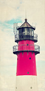 Striped Mixed Media Prints - The Lighthouse Print by Angela Doelling AD DESIGN Photo and PhotoArt