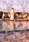 Lake Buena Vista Prints - The Lighthouse At Crescent Lake Print by Kenneth Krolikowski