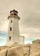 St Margaret Prints - The Lighthouse at Peggys Cove Print by Rob Huntley