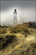 Thumb Area Posters - The LightHouse beach at Fort Gratiot Michigan Poster by LeeAnn McLaneGoetz McLaneGoetzStudioLLCcom