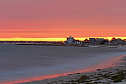New England Fall Photos Prints - The Lighthouse Inn  Print by Juergen Roth