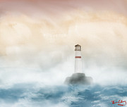 The Lighthouse Print by Thomas OGrady