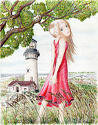 Oats Mixed Media Prints - The Lightkeepers Daughter  Print by Lyle Polyak