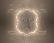The Lightning Man Framed Prints - The Lightning Man Sepia Framed Print by James Bo Insogna