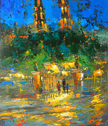Evening Dress Painting Originals - The lights of the Merida by Dmitry Spiros