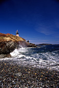 Maine Lighthouses Posters - The Ligthouse At West Quoddy Poster by Skip Willits